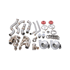 Twin Turbo Manifold Downpipe For 67-72 Chevy C10 Truck BBC Big Block 396 402 427 454