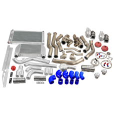 Twin Turbo Kit Intercooler Radiator For 68-72 Chevelle  BBC Big Block 396 402 427 454