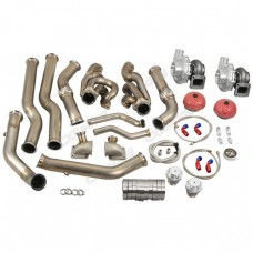 Twin Turbo Header Kit T72 For 68-72 Chevelle BBC Big Block 396 402 427 454