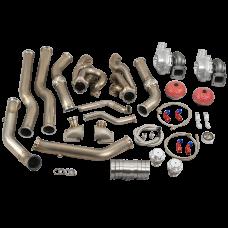 Twin Turbo Header Kit T72 For 68-72 Chevelle BBC Big Block 396 402 427 454