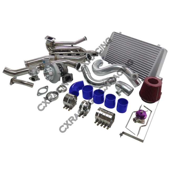 top mount gt35 turbo kit manifold downpipe intercooler for. Black Bedroom Furniture Sets. Home Design Ideas