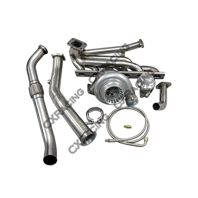 top mount t3 gt35 turbo kit manifold downpipe for 92 98. Black Bedroom Furniture Sets. Home Design Ideas