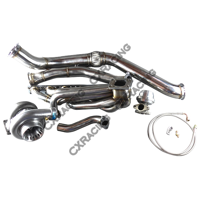 Gt35 Turbo Manifold Downpipe Intercooler Kit For Bmw E46