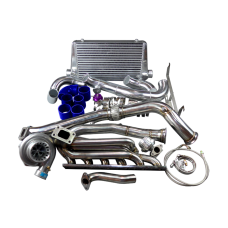 GT35 Turbo Manifold Downpipe Intercooler Kit for BMW E46 M52 M54 Engine NA-T