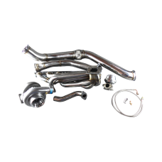 GT35 Turbo Manifold Downpipe Kit for BMW E46 M52 M54 Engine NA-T Top Mount