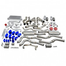 Twin Turbo Manifold Header Intercooler Exhaust Catback Kit for 67-69 Camaro LS1 LS
