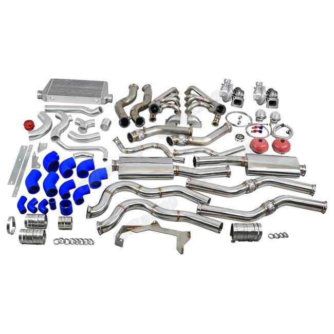 Ls1 Engine Twin Turbo: Twin Turbo Manifold Header Intercooler Exhaust Catback Kit