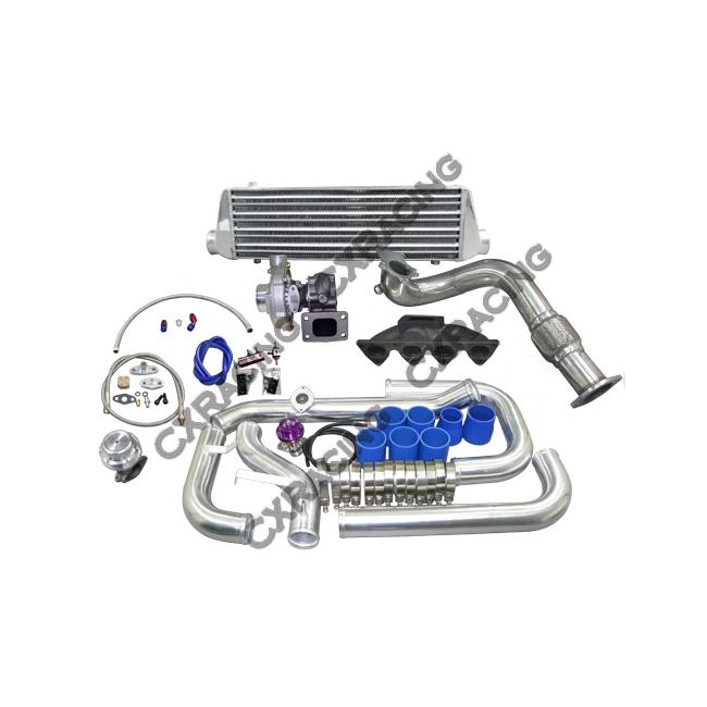 Manifold Turbo Intercooler Kit For Civic Ek With B16 B18 B