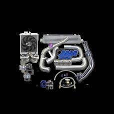 Turbo Intercooler Kit + Radiator Fan Ram Manifold For Civic D15 D16
