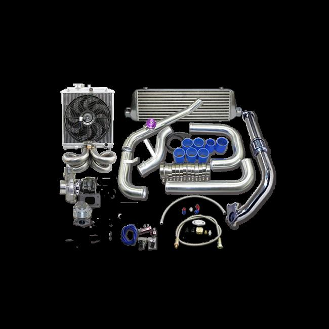 Turbo Intercooler Kit For 1988 2000 Honda Civic B16 B18 B
