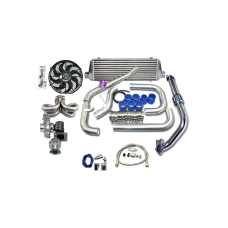 Turbo Kit For 92-00 Honda Civic D15 D16 Engine Ram Style Equal Length Manifold