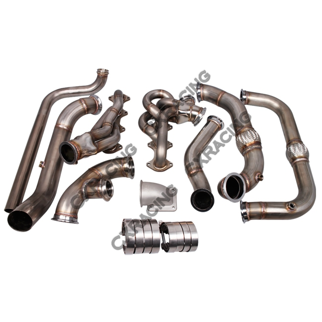 Ford 2 3 Turbo Kit: Turbo Manifold Header Downpipe Kit For 09-14 Ford F150 F