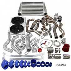 Turbo Manifold Header Intercooler Piping Kit For 97-03 Ford F150 4.6L V8 NA-T