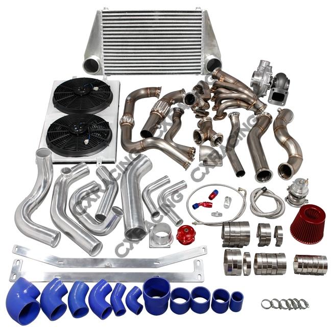 Turbo Manifold Header Intercooler Piping Kit For 97-03 Ford F150 4 6