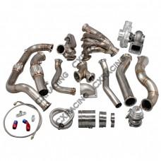 Turbo Manifold Header Downpipe Wastegate Kit For 97-03 Ford F150 4.6L V8 NA-T