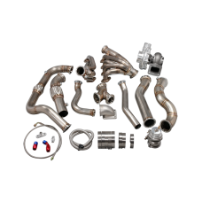 Turbo Manifold Header Downpipe Wastegate Kit For 97-03 Ford F150 4.6L V8 NA-T