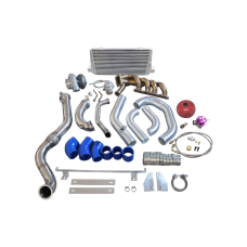 T4 GT35 Turbo Intercooler Piping Kit For HONDA S2000 F22 Thick Manifold Downpipe