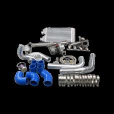 Turbo Kit Downpipe Intercooler Manifold For 1997-2001 Nissan FRONTIER KA24DE T3
