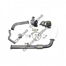 Top Mount GT35 Turbo Kit + FM Intercooler kit For 240SX S13 S14 KA24DE