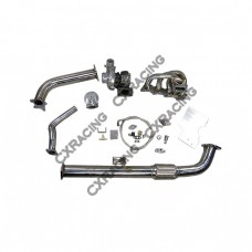 Top Mount T04E Turbo Kit + Intercooler For 240SX S13 S14 KA24DE