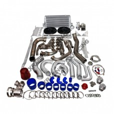 Turbo Manifold Header Downpipe Intercooler Piping Radiator For Corvette C6 LS3 NA-T