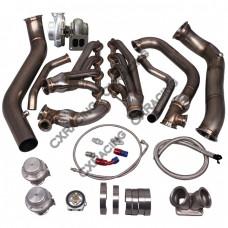 Turbo Manifold Header Downpipe Kit For 05-13 Chevrolet Corvette C6 LS3 NA-T GT45