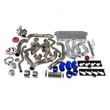 Turbo Header Downpipe Intercooler Kit For 09-15 Camaro LS3 6.2 NA-T LS