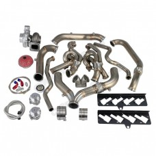 Turbo Header Manifold Downpipe Kit For 09-15 Camaro LS3 6.2 NA-T