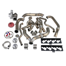 Turbo Header Manifold Downpipe Kit For 13-15 Camaro LS3 6.2 NA-T