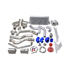 Single Turbo Manifold Downpipe Intercooler Kit For 74-81 Camaro LS1 Engine