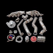 Single Turbo Manifold Downpipe Kit For 74-81 Camaro LS1 Engine 700HP