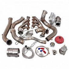 T76 Turbo Header Manifold Downpipe Kit For 82-92 Camaro LS1 LSx Swap