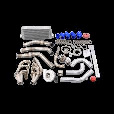 Singel Turbo Manifold Intercooler Kit For 78-83 Chevrolet Malibu G-Body LS1 LSx