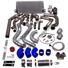 Turbo Header Manifold Downpipe Intercooler Piping Kit For 79-93 Ford Mustang LS1 LSx Swap
