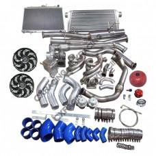 Turbo Intercooler Radiator Catback Kit 240SX S13 S14 LS1 LSx Engine Swap