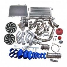 Turbo Intercooler Radiator Kit 240SX S13 S14 LS1 LSx Engine Swap T76 600 WHP