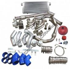 Turbo Manifold Downpipe Intercooler Kit 240SX S13 S14 LS1 LSx Engine Swap