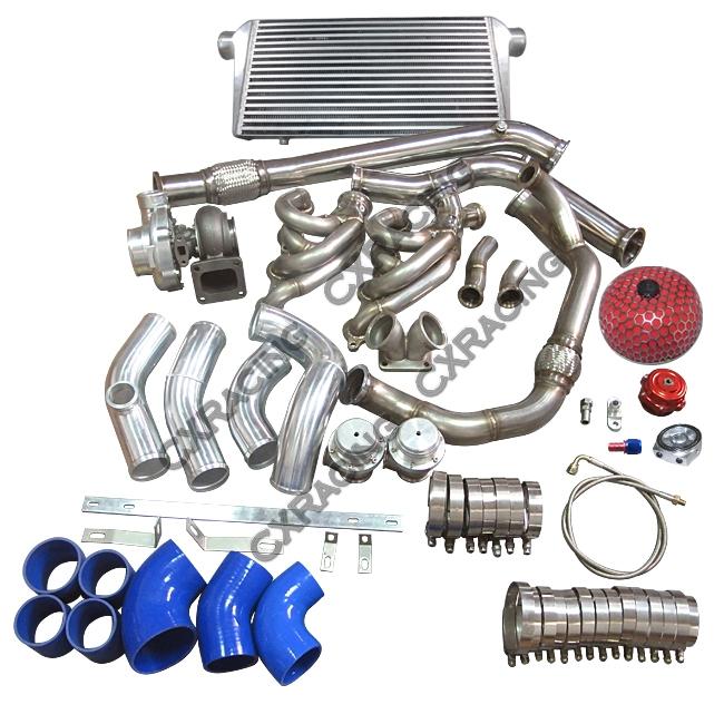 Turbo Manifold Downpipe Intercooler Kit 240SX S13 S14 LS1