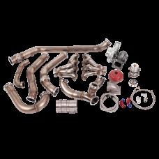 Single Turbo Header Manifold Downpipe Wastegate Kit for 68-72 Chevelle LS1 LSx