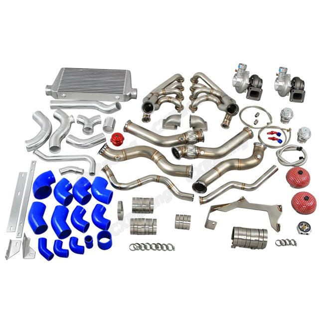 twin turbo manifold header intercooler kit for 67
