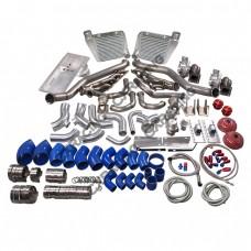LS1 Twin Turbo Manifold Intercooler Kit Motor Mounts Oil Pan For 63-65 Chevrolet Chevelle LSx