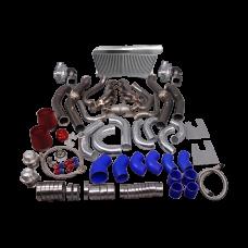 Twin Turbo Header Intercooler Kit For G-Body LS1 LS Motor Cutlass Grand National Monte Carlo