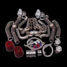 Twin Turbo Header Manifold Downpipe Kit For G-Body LS1 LS Motor Cutlass Grand National Bonneville
