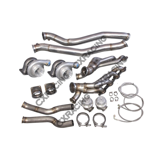 twin turbo manifold downpipe kit for 86