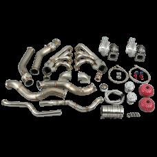 CXRacing Twin Turbo Manifold Downpipe Kit For 68-74 Chevrolet Nova LS1 LSx Engine