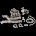 Version2 Turbo Manifold Downpipe Kit For 90-98 Mazda Miata MX-5 NA 1.6L