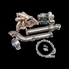 Turbo Manifold DownPipe Kit For Mazda Miata MX-5 1.8L NA-T T3 Top Mount