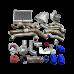 Turbo Header Manifold Intercooler Heat Exchanger Piping Kit For 65 Ford Mustang V8