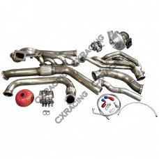 Turbo Header Manifold Downpipe Wastegate Kit For 64-68 Ford Mustang 289