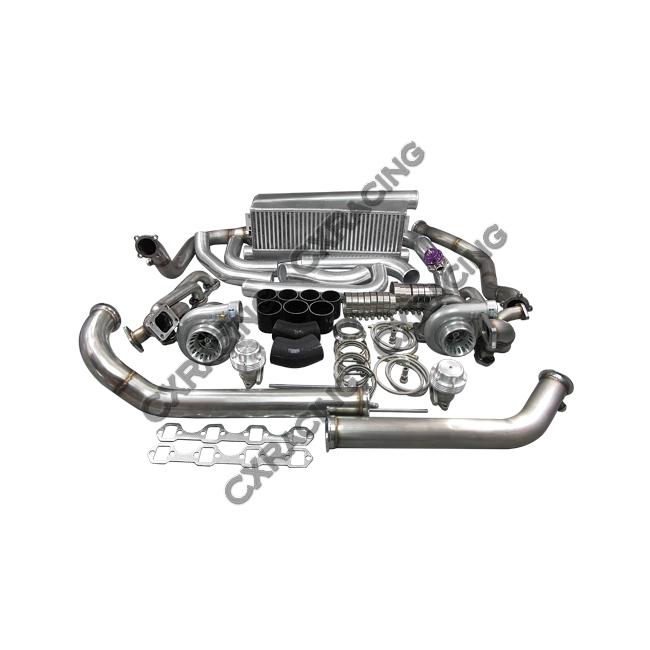 TRB KIT MUSTANG TT GT35 2 IC on Universal Aluminum Fuel Tanks